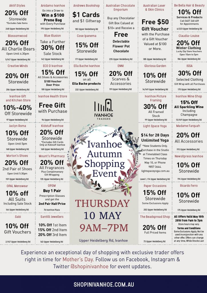 Autumn Shopping Event