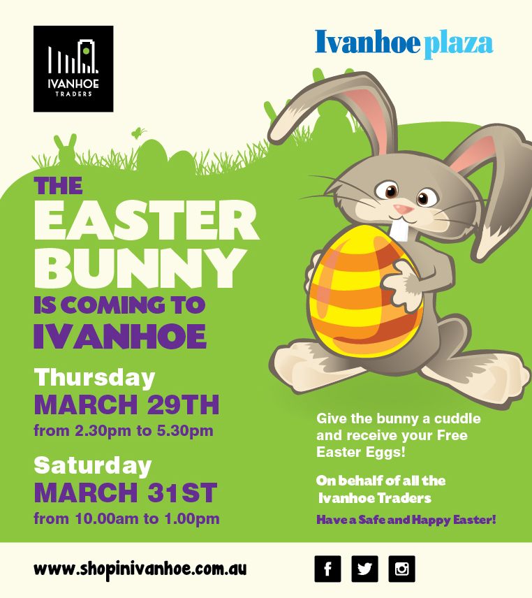 The Easter Bunny is coming to Ivanhoe