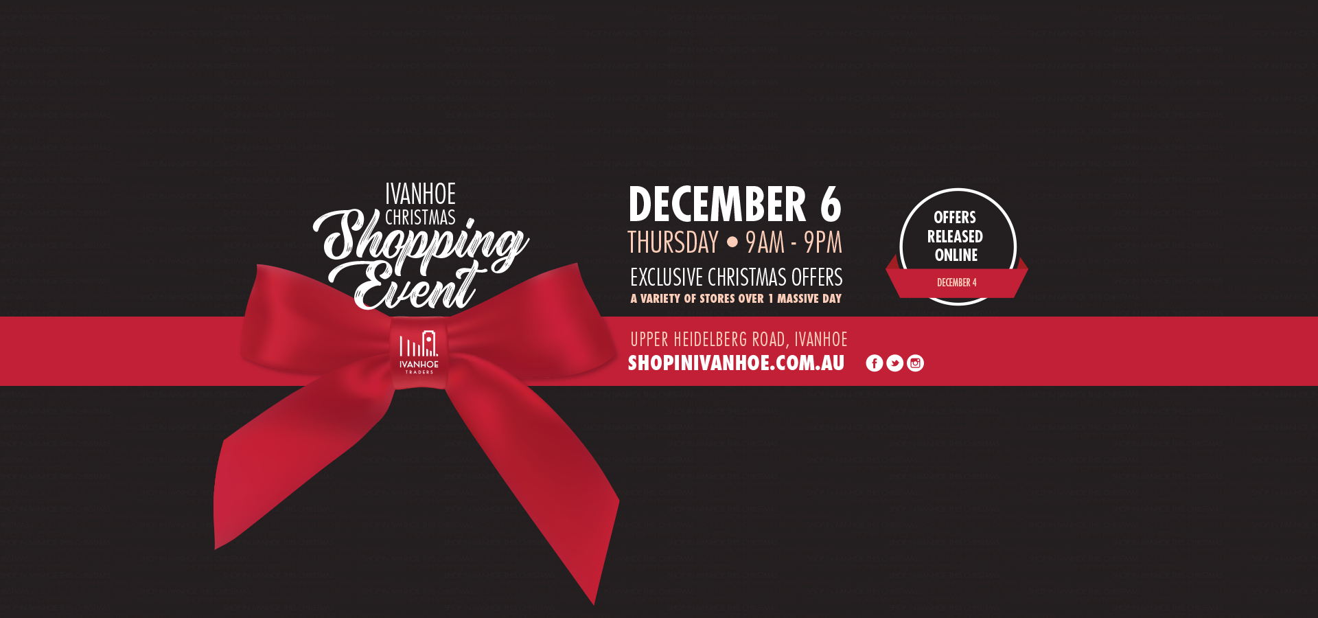 Ivanhoe Christmas Shopping Event 2018_Banner