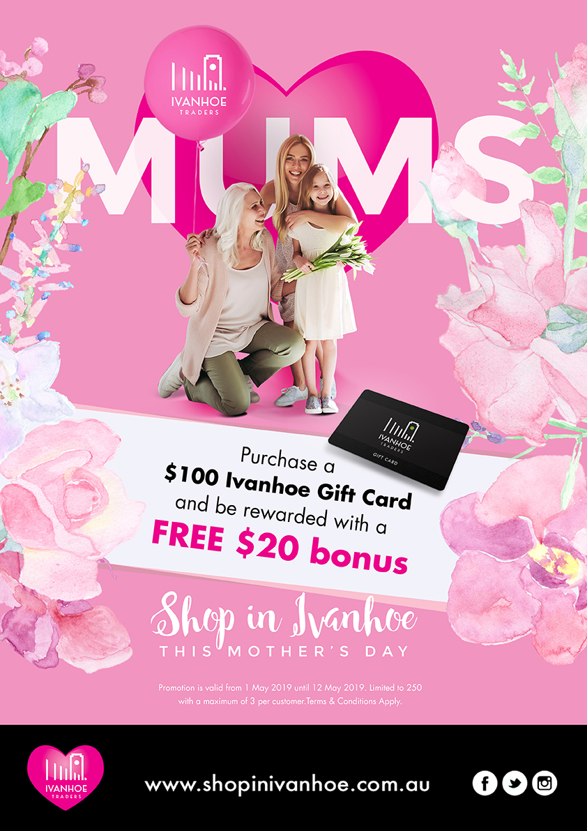 Mother's Day gift cards Ivanhoe Melbourne
